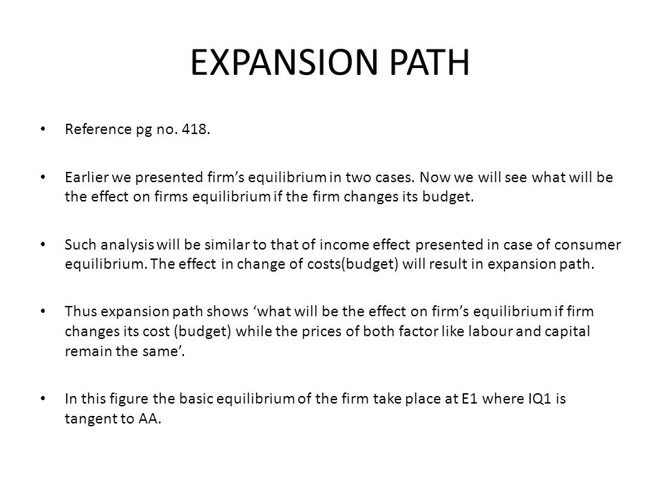 EXPANSION PATH Reference pg no. 418.