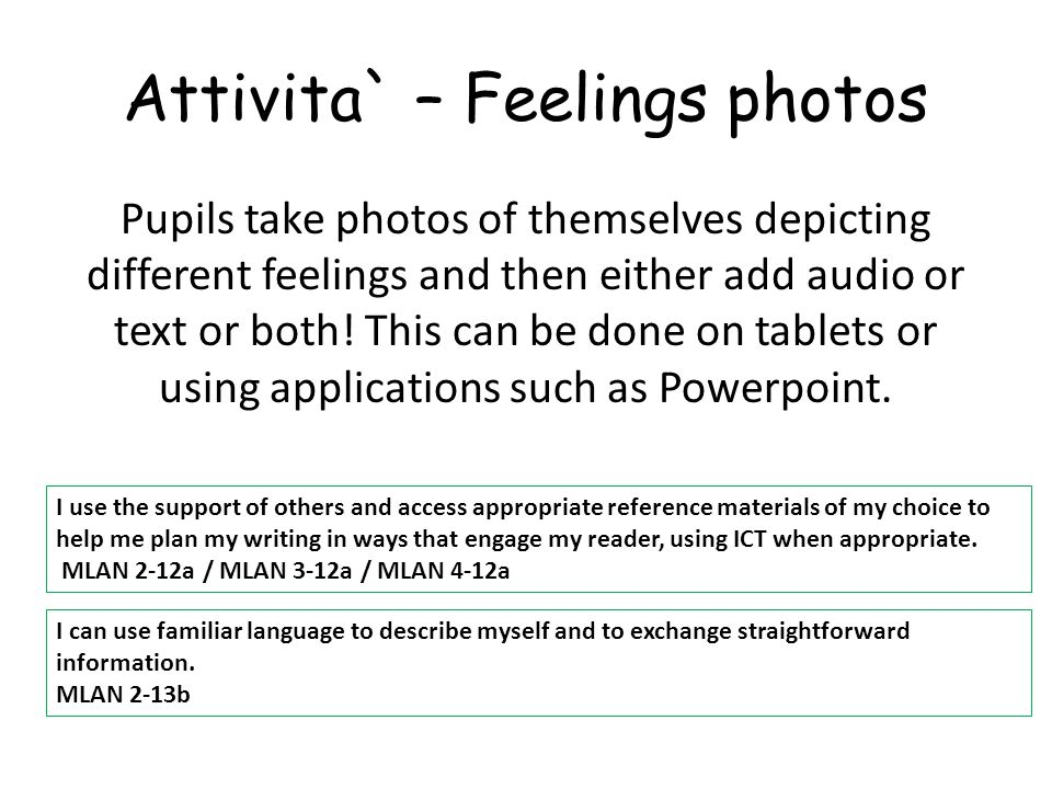 Attivita` – Feelings photos