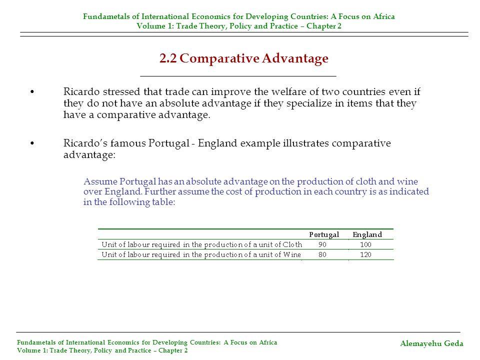 2.2 Comparative Advantage