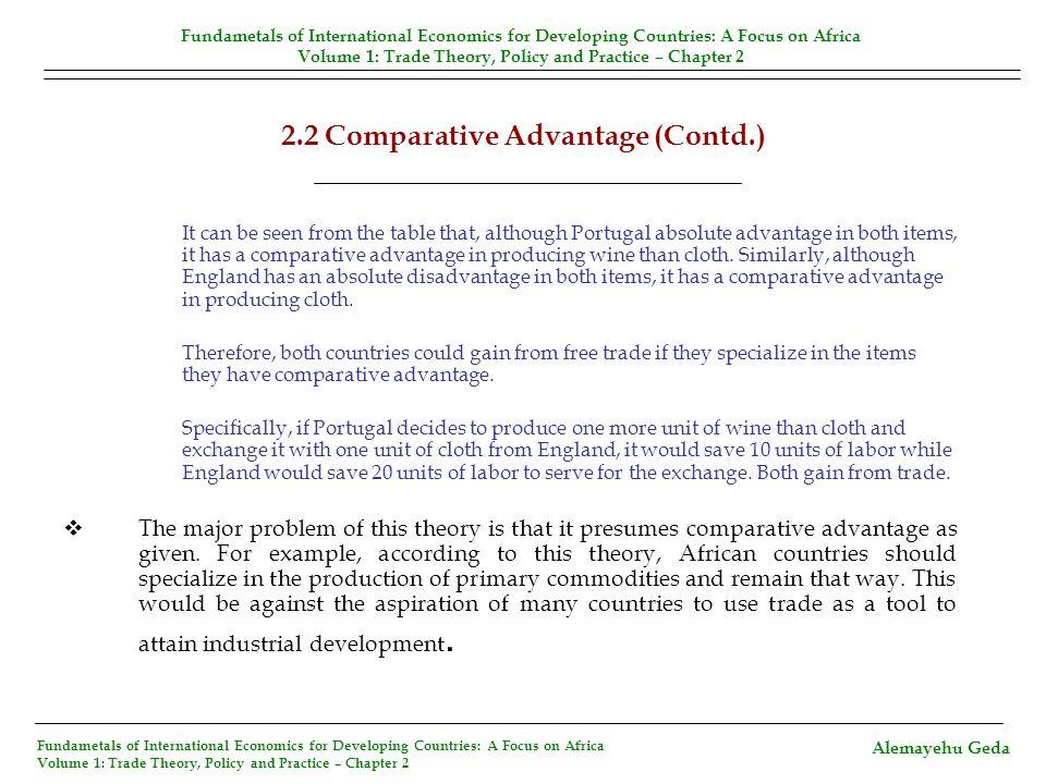 2.2 Comparative Advantage (Contd.)