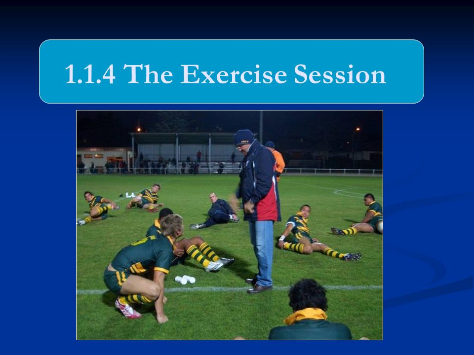 1.1.4 The Exercise Session