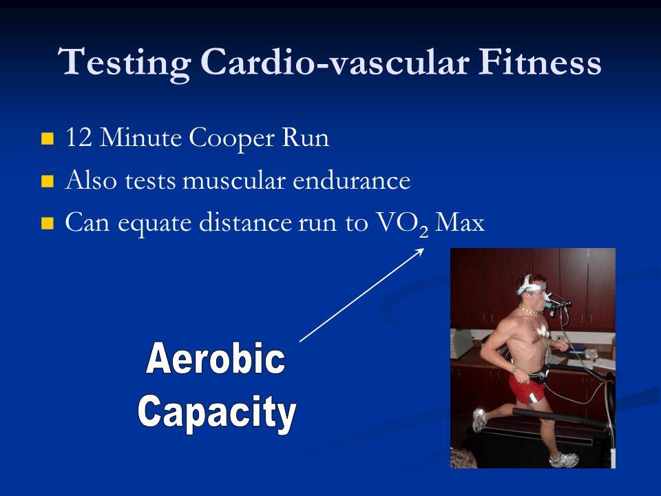 Testing Cardio-vascular Fitness