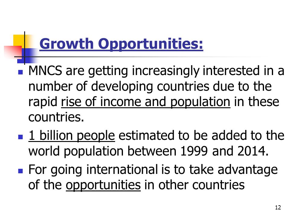 Growth Opportunities: