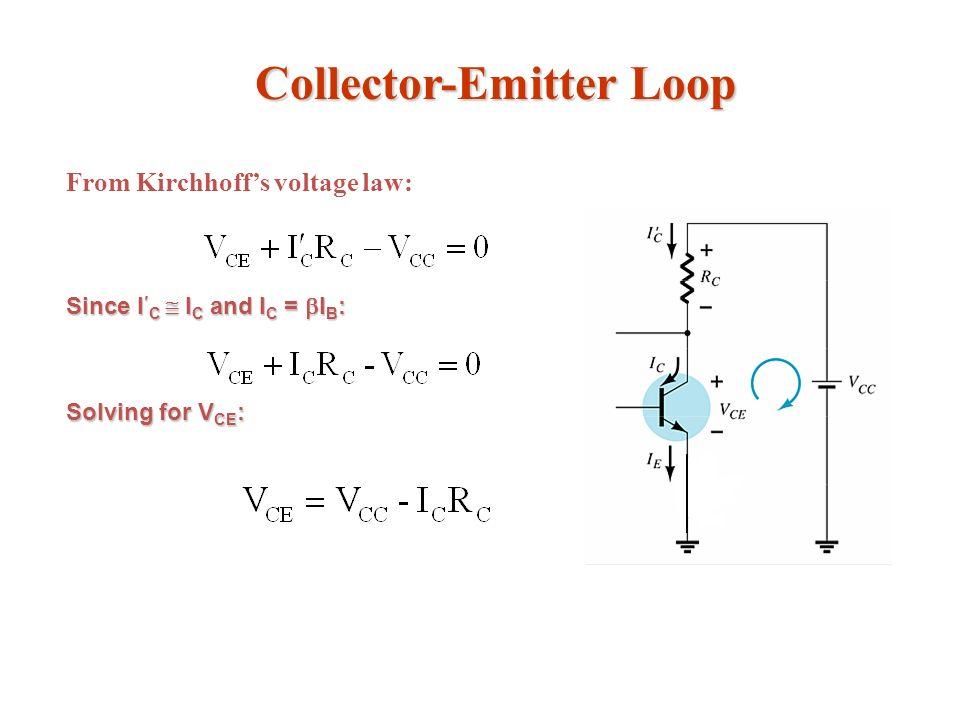 Collector-Emitter Loop