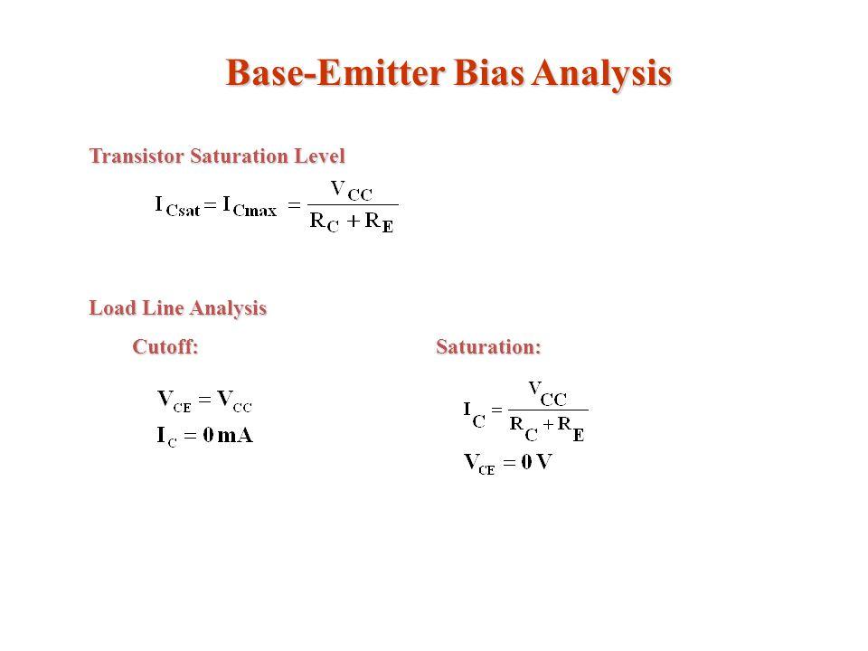 Base-Emitter Bias Analysis