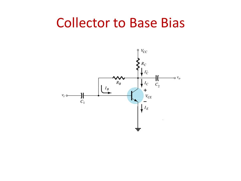 Collector to Base Bias