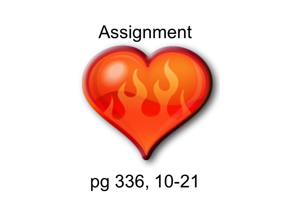 Assignment pg 336, 10-21