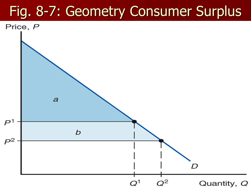 Fig. 8-7: Geometry Consumer Surplus