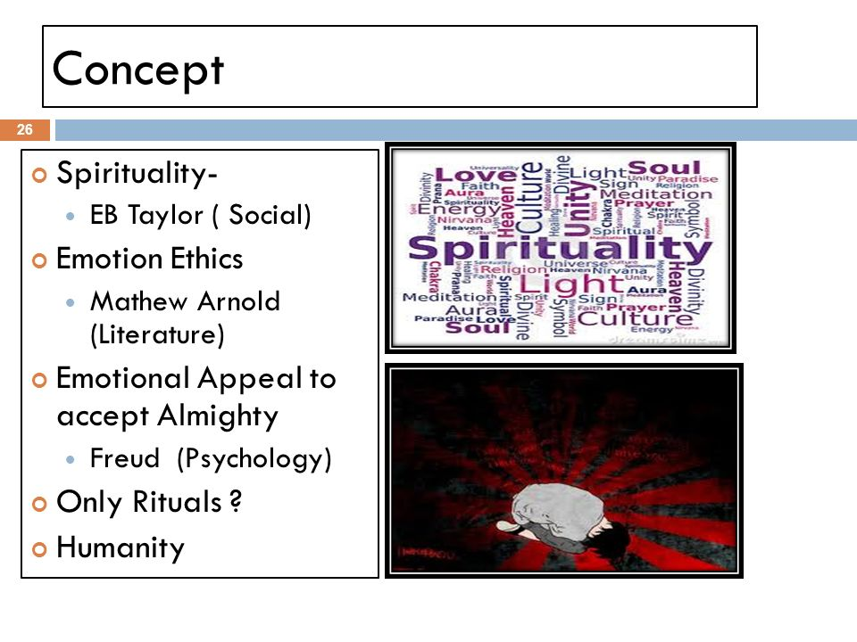 Concept Spirituality- Emotion Ethics