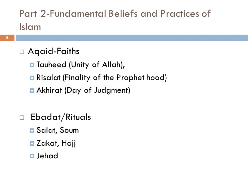 Part 2-Fundamental Beliefs and Practices of Islam