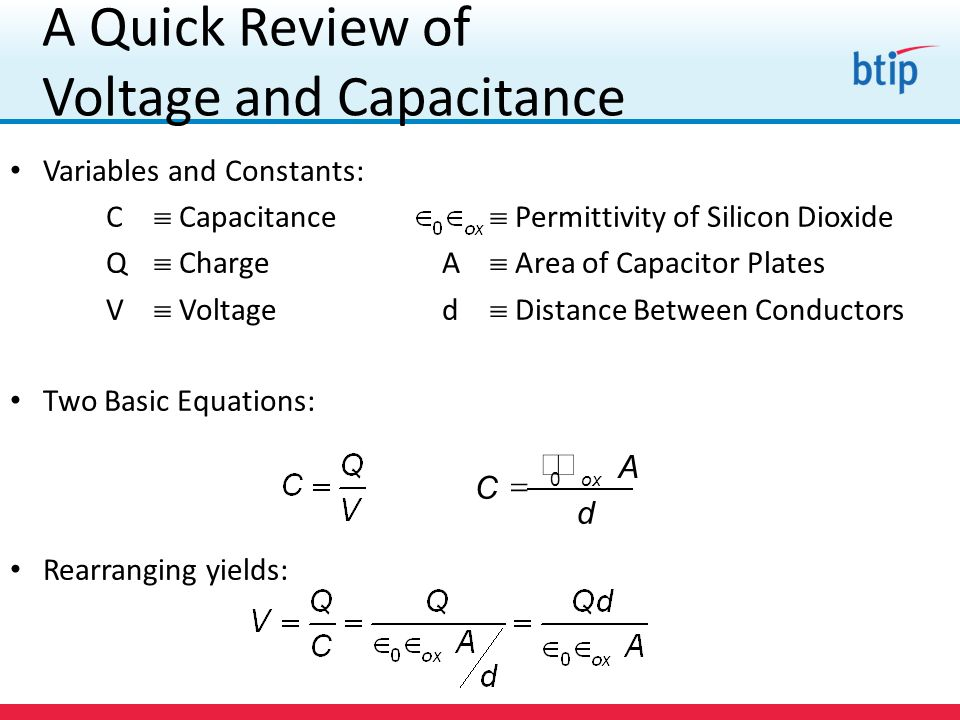 A Quick Review of Voltage and Capacitance