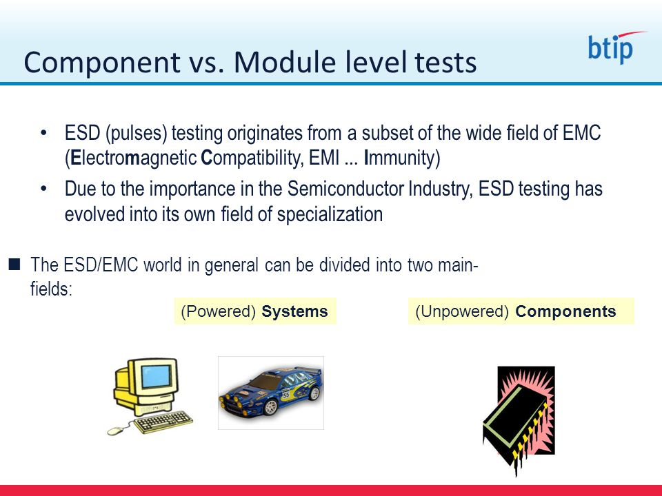Component vs. Module level tests