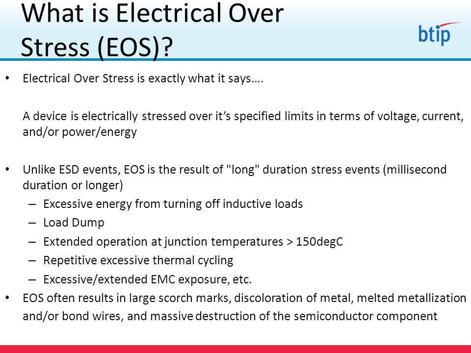 What is Electrical Over Stress (EOS)