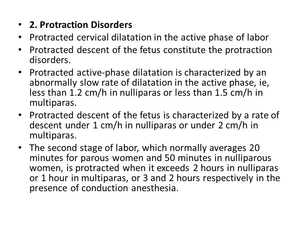 2. Protraction Disorders