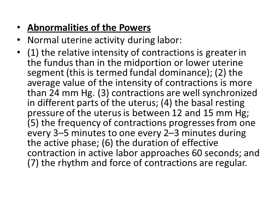 Abnormalities of the Powers