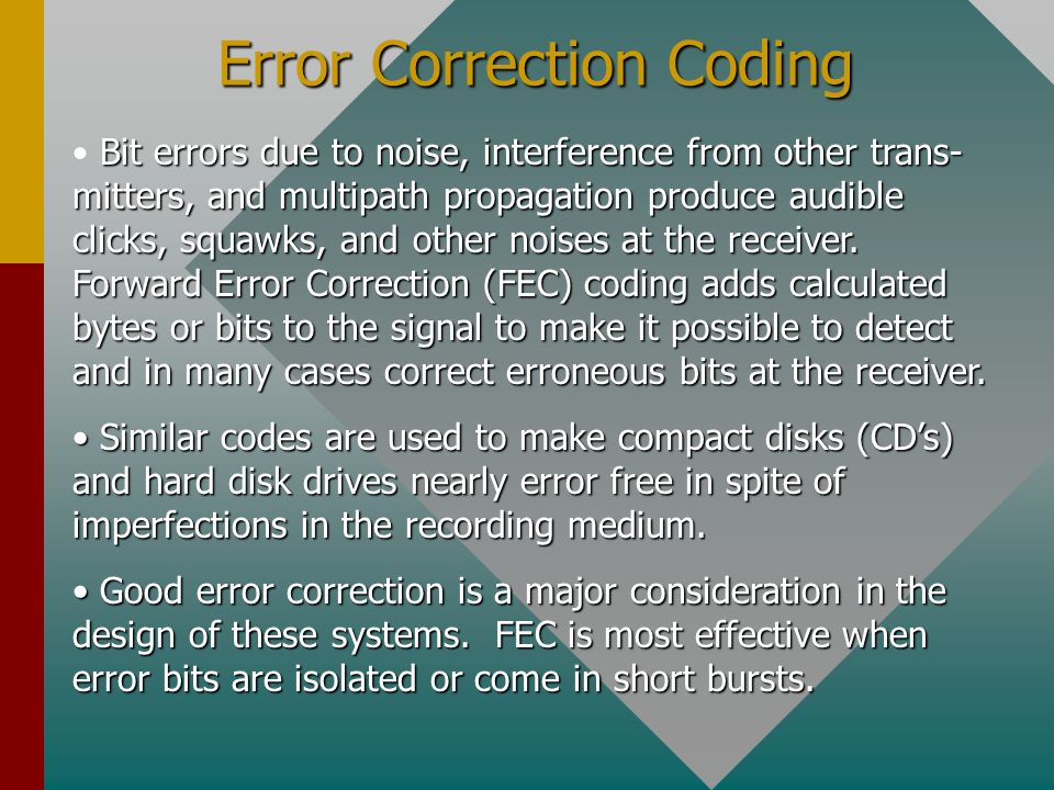 Error Correction Coding