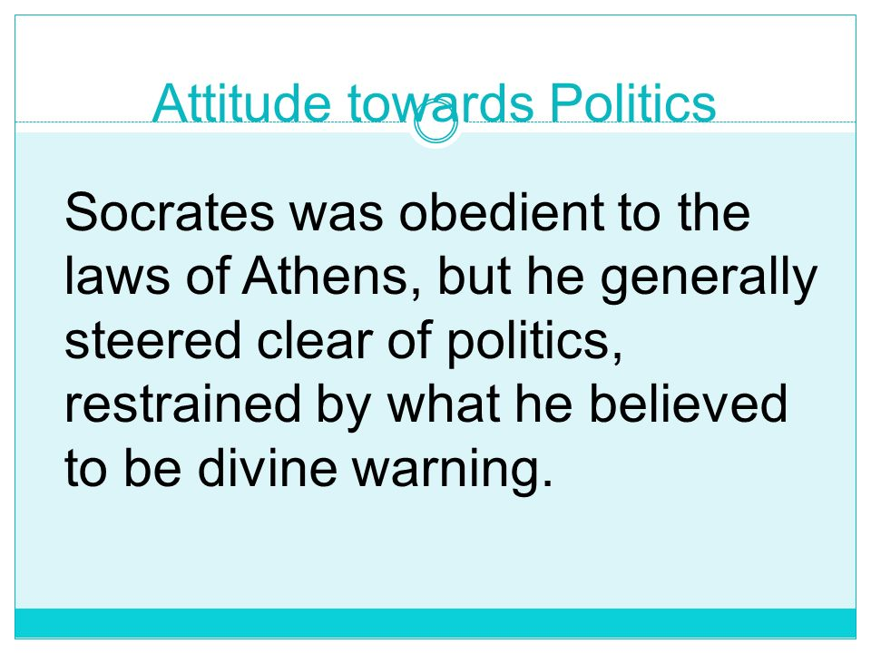 Attitude towards Politics