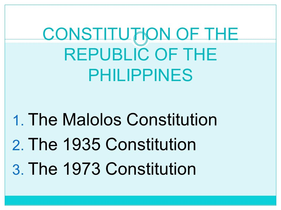 CONSTITUTION OF THE REPUBLIC OF THE PHILIPPINES