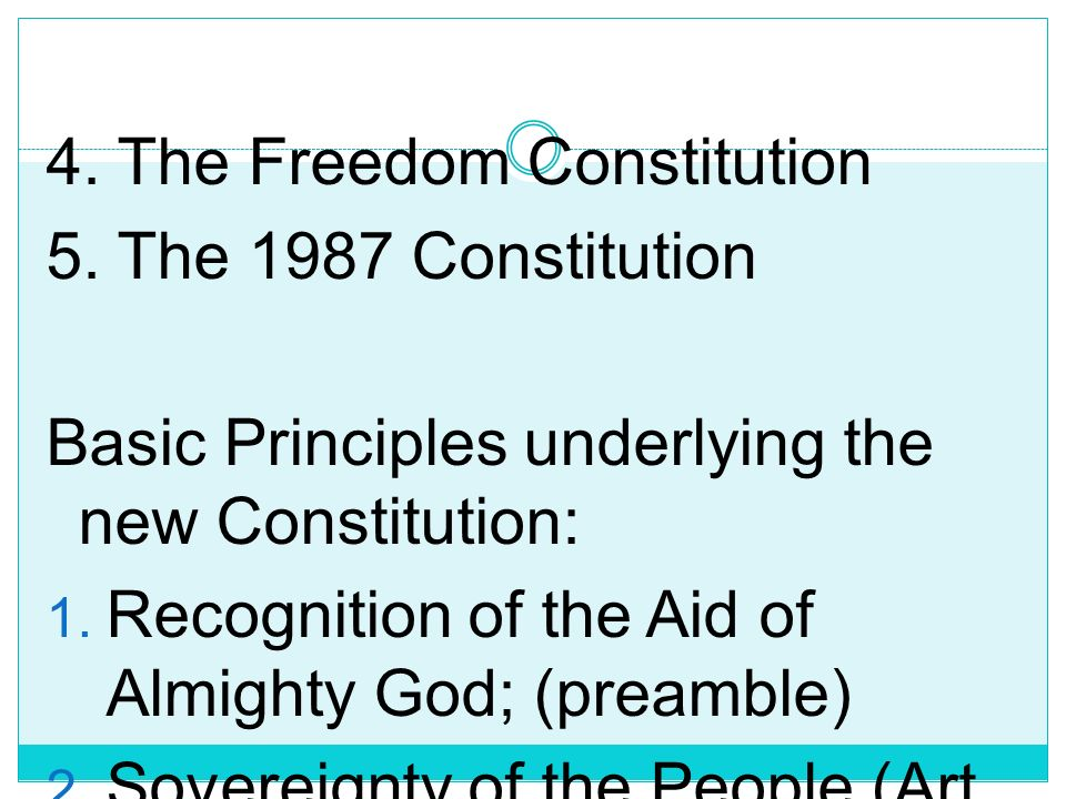 4. The Freedom Constitution