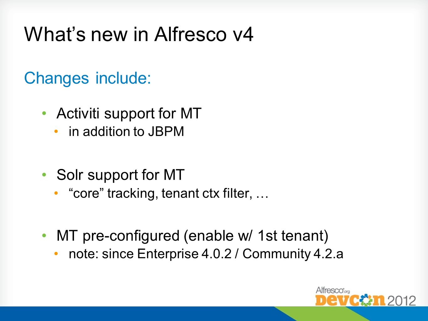What's new in Alfresco v4