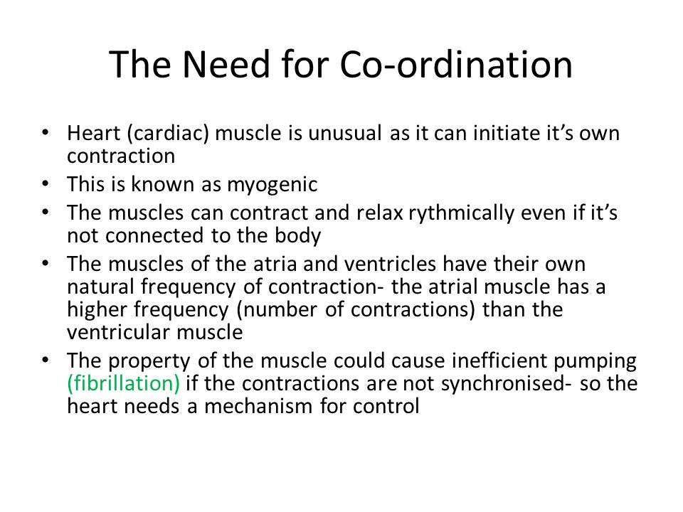 The Need for Co-ordination