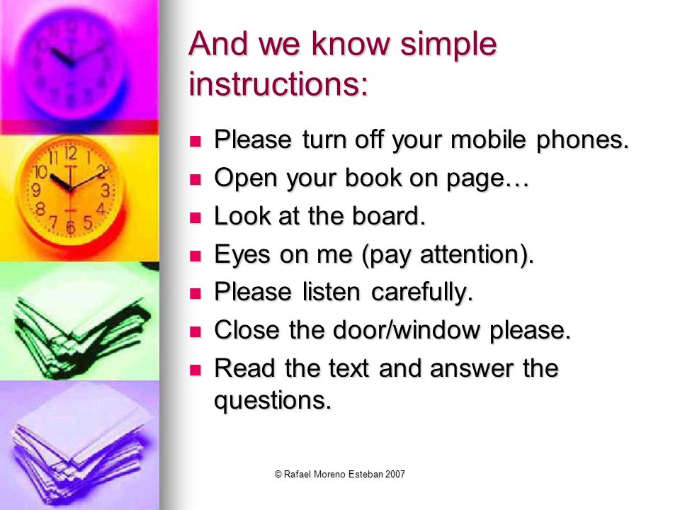 And we know simple instructions: