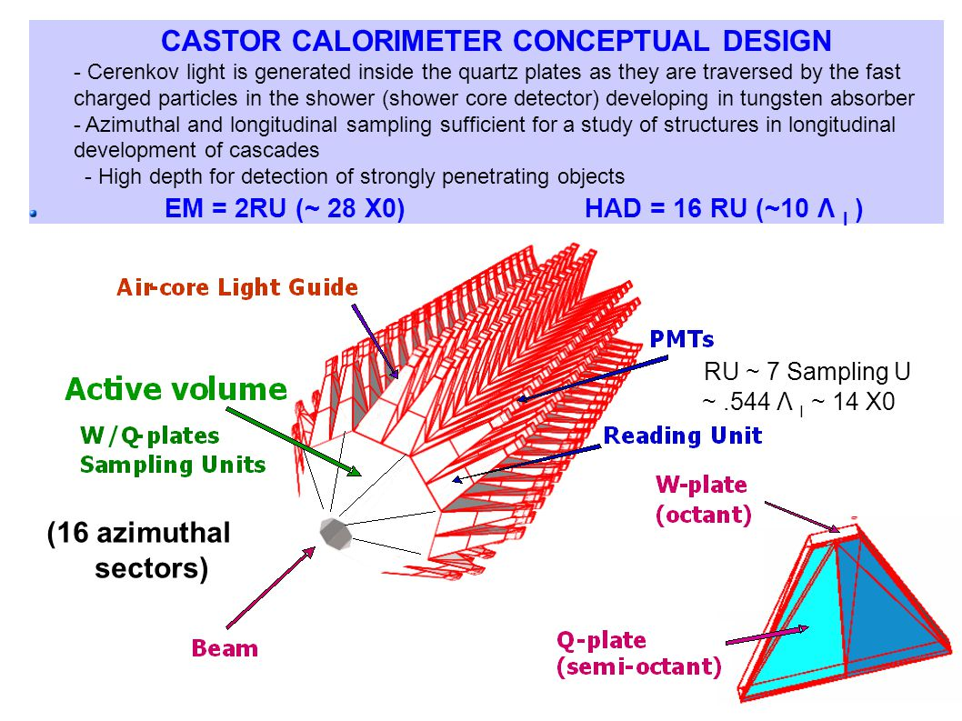 CASTOR CALORIMETER CONCEPTUAL DESIGN