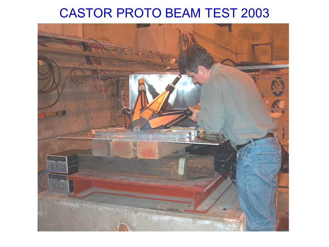CASTOR PROTO BEAM TEST 2003