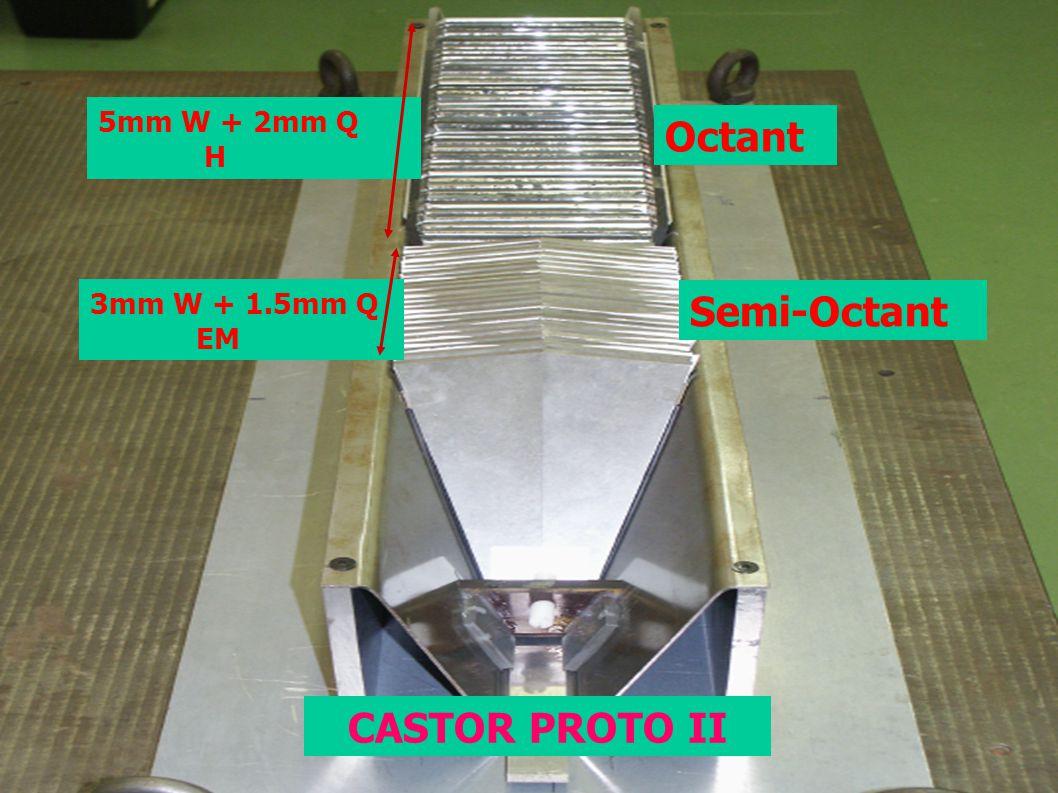 5mm W + 2mm Q H Octant 3mm W + 1.5mm Q EM Semi-Octant CASTOR PROTO II