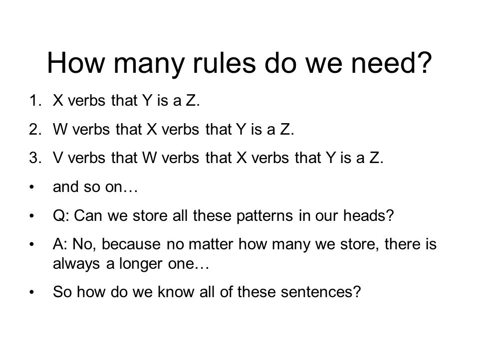 How many rules do we need