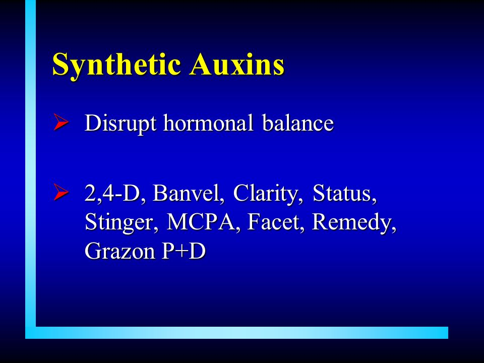 Synthetic Auxins Disrupt hormonal balance