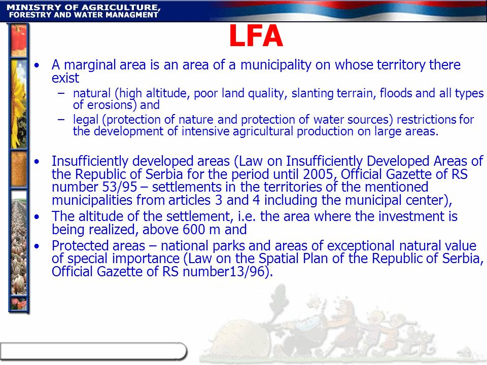 LFA A marginal area is an area of a municipality on whose territory there exist.