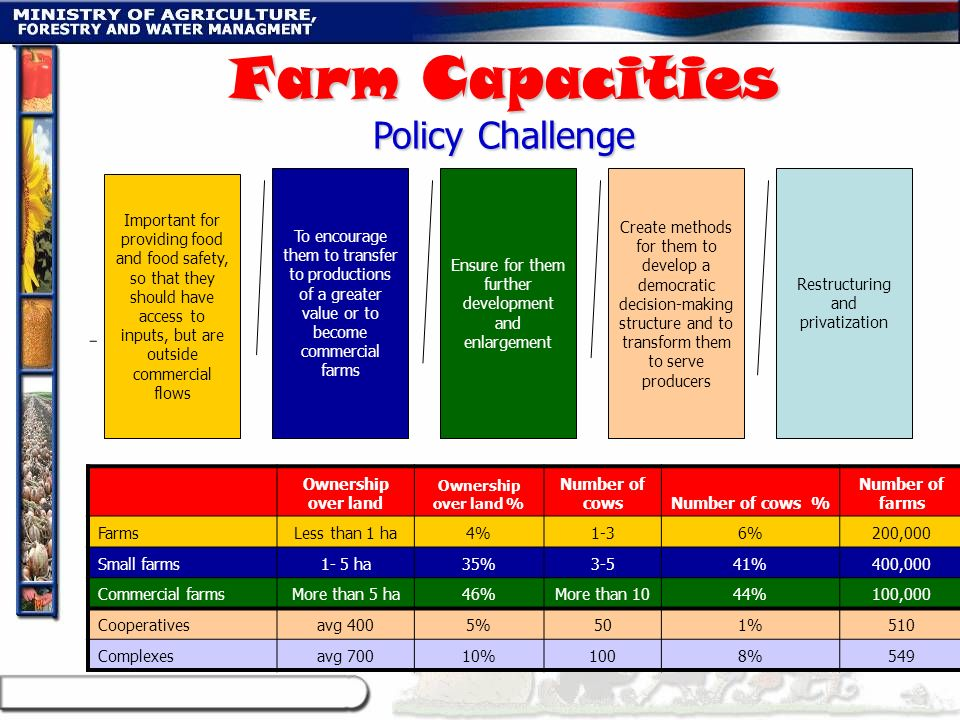 Farm Capacities Policy Challenge