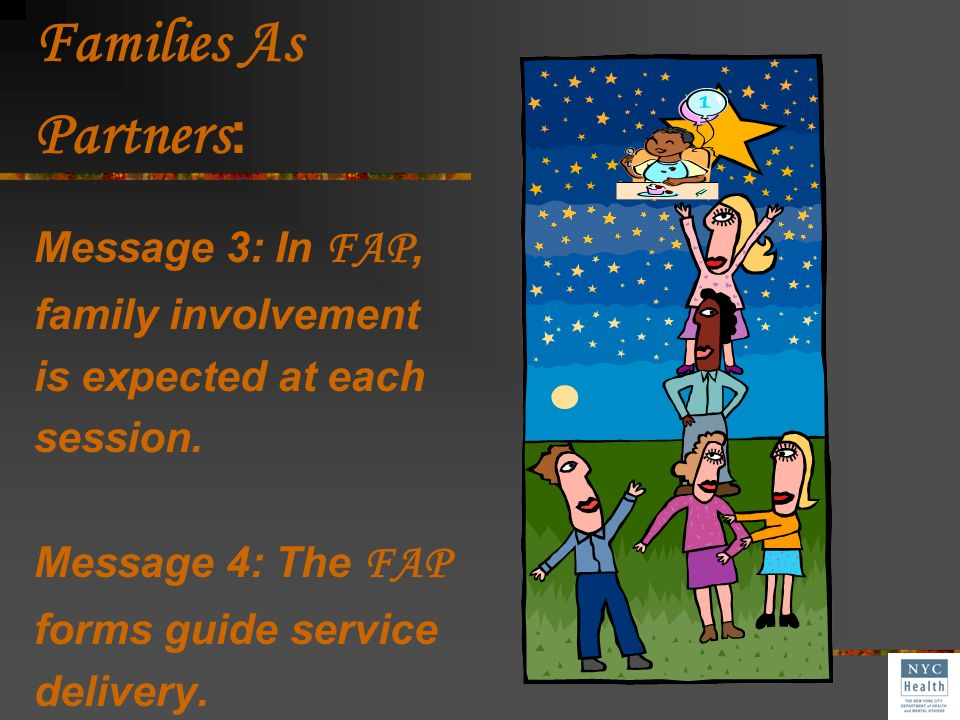 Families As Partners: Message 3: In FAP, family involvement