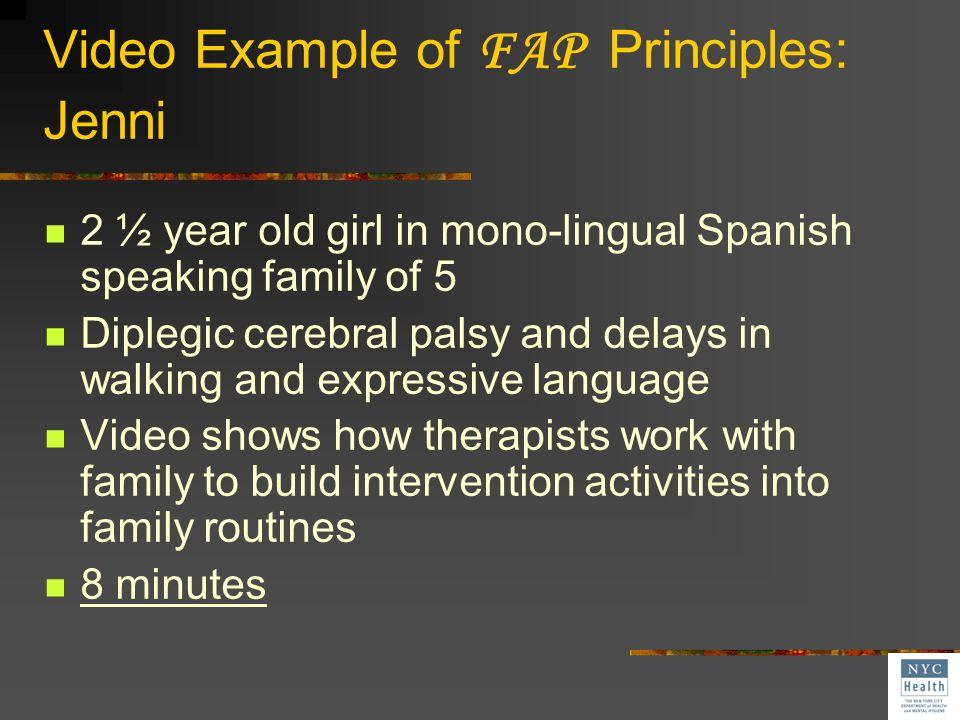 Video Example of FAP Principles: Jenni