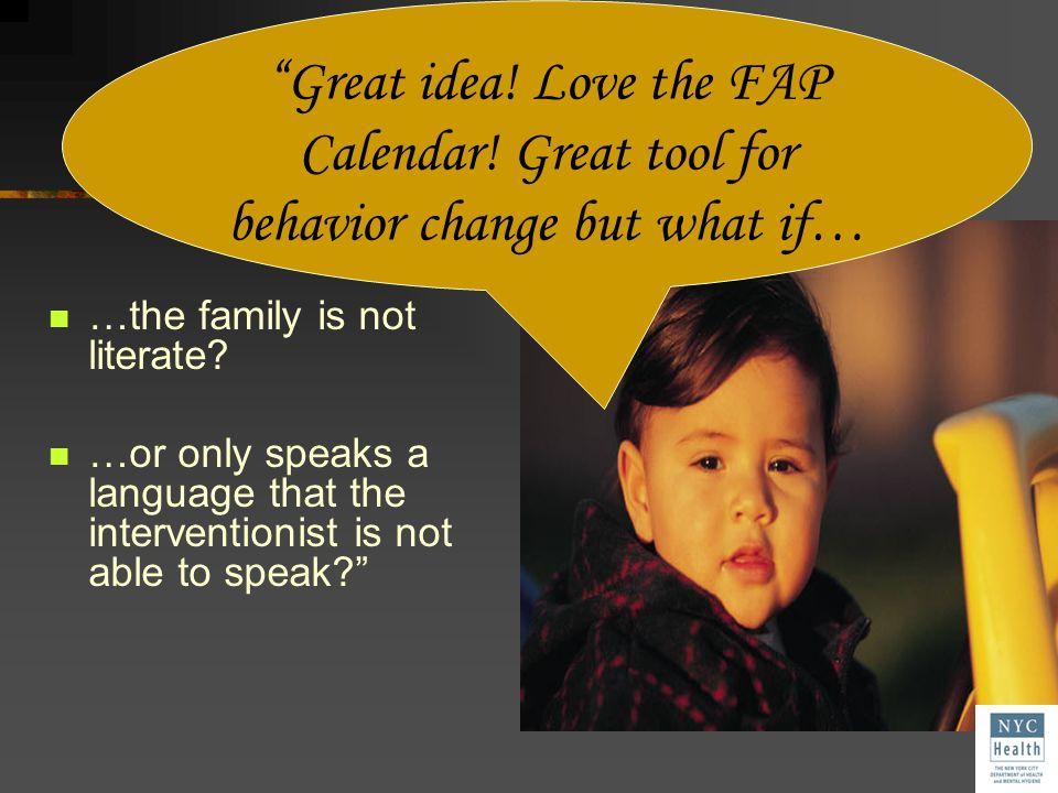 Great idea. Love the FAP Calendar