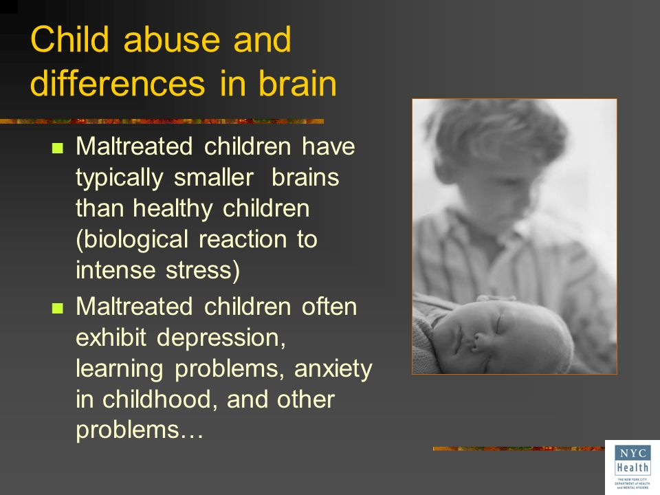 Child abuse and differences in brain
