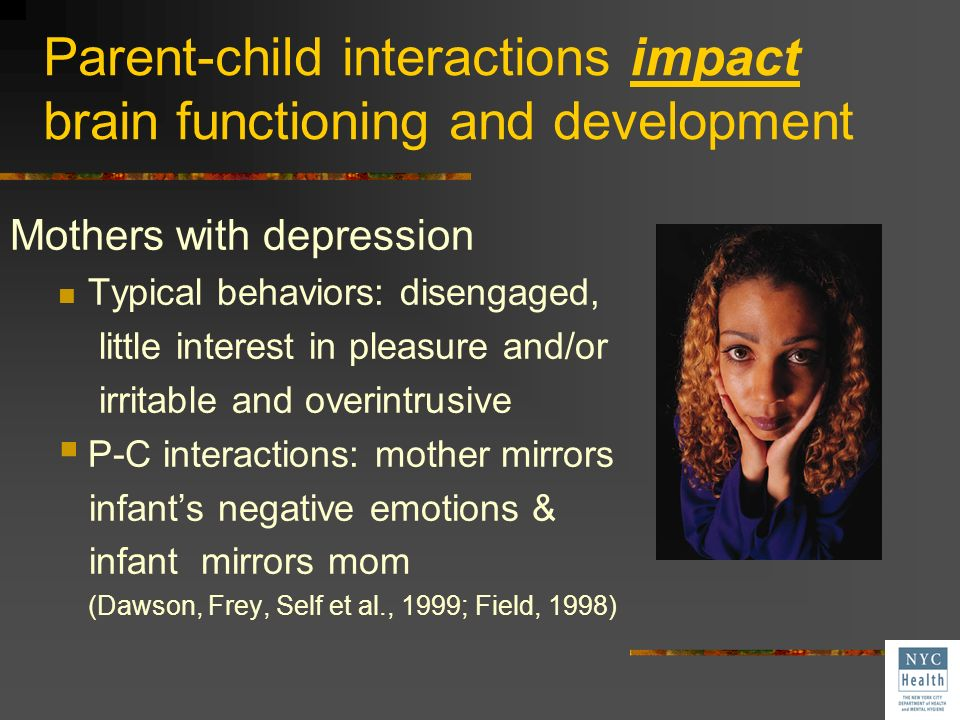 Parent-child interactions impact brain functioning and development