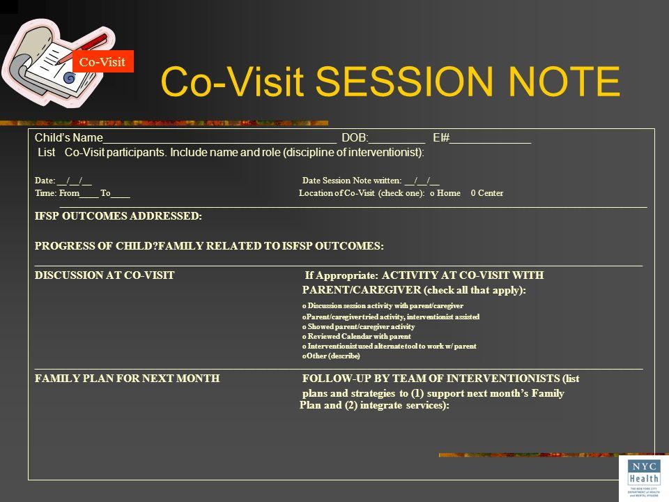 Co-Visit SESSION NOTE Co-Visit