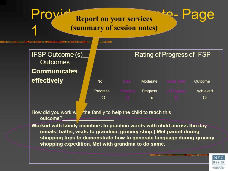 Provider Progress note- Page 1
