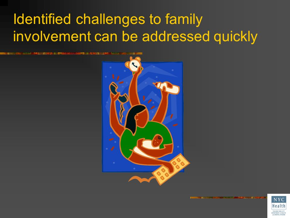 Identified challenges to family involvement can be addressed quickly