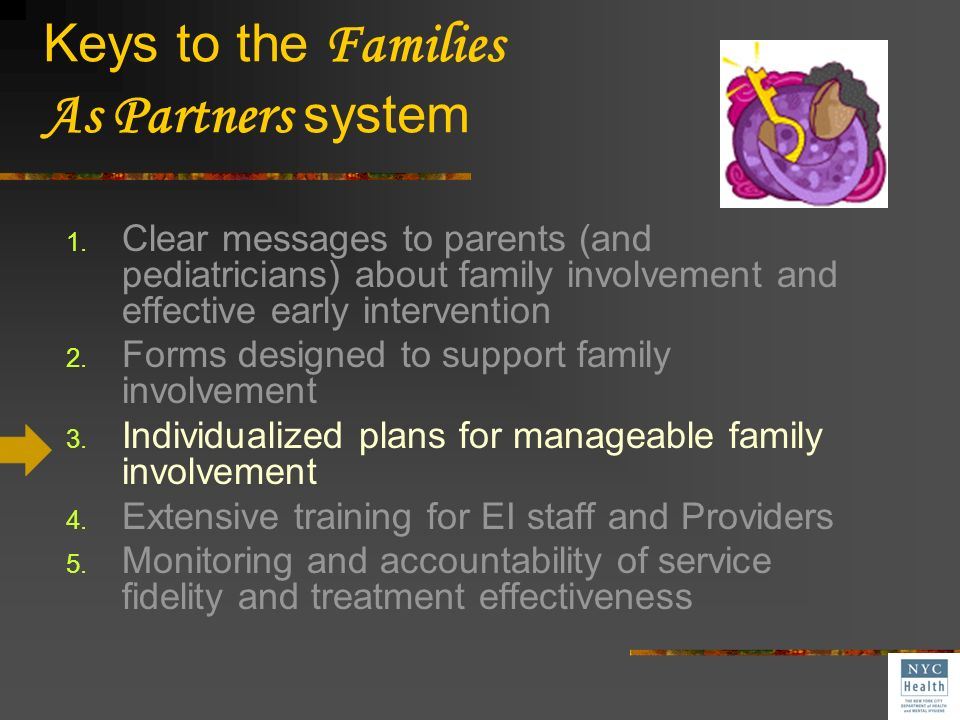 Keys to the Families As Partners system