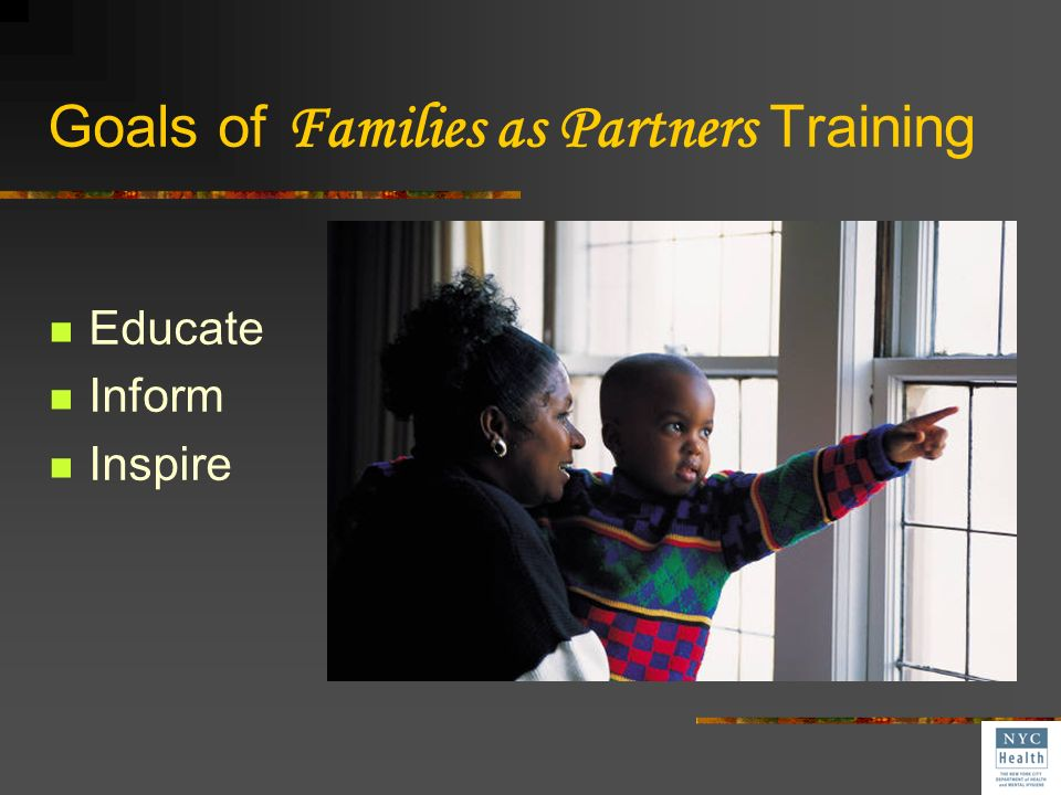 Goals of Families as Partners Training