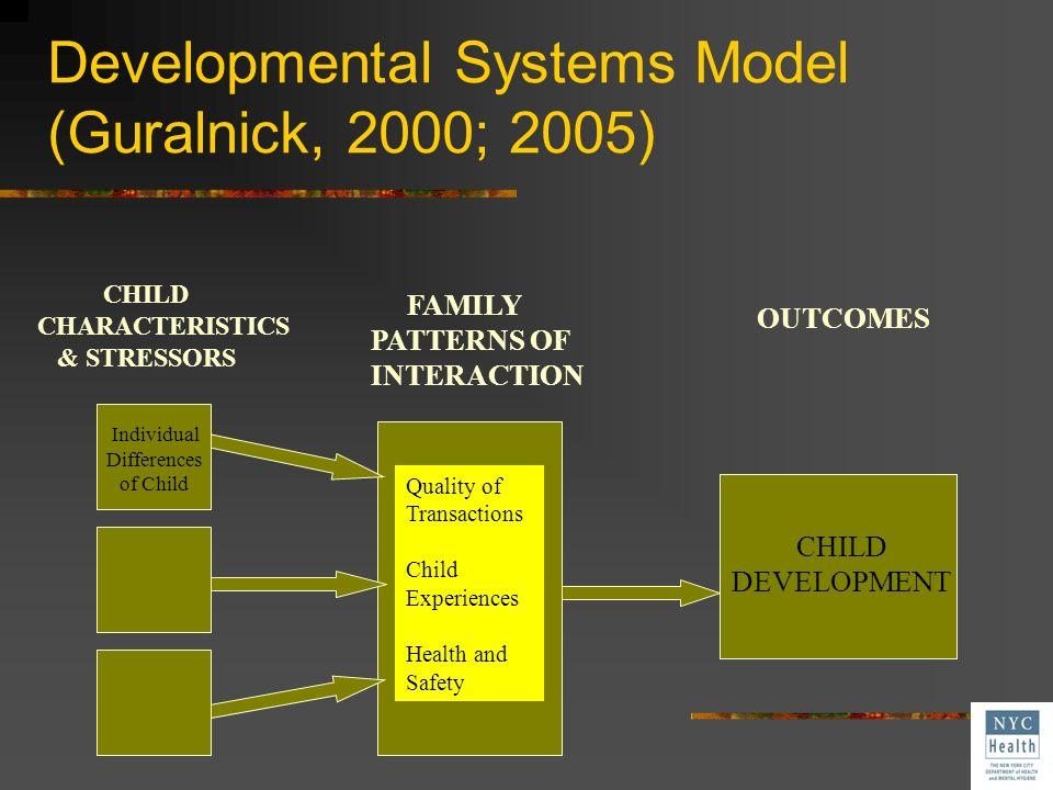Developmental Systems Model (Guralnick, 2000; 2005)