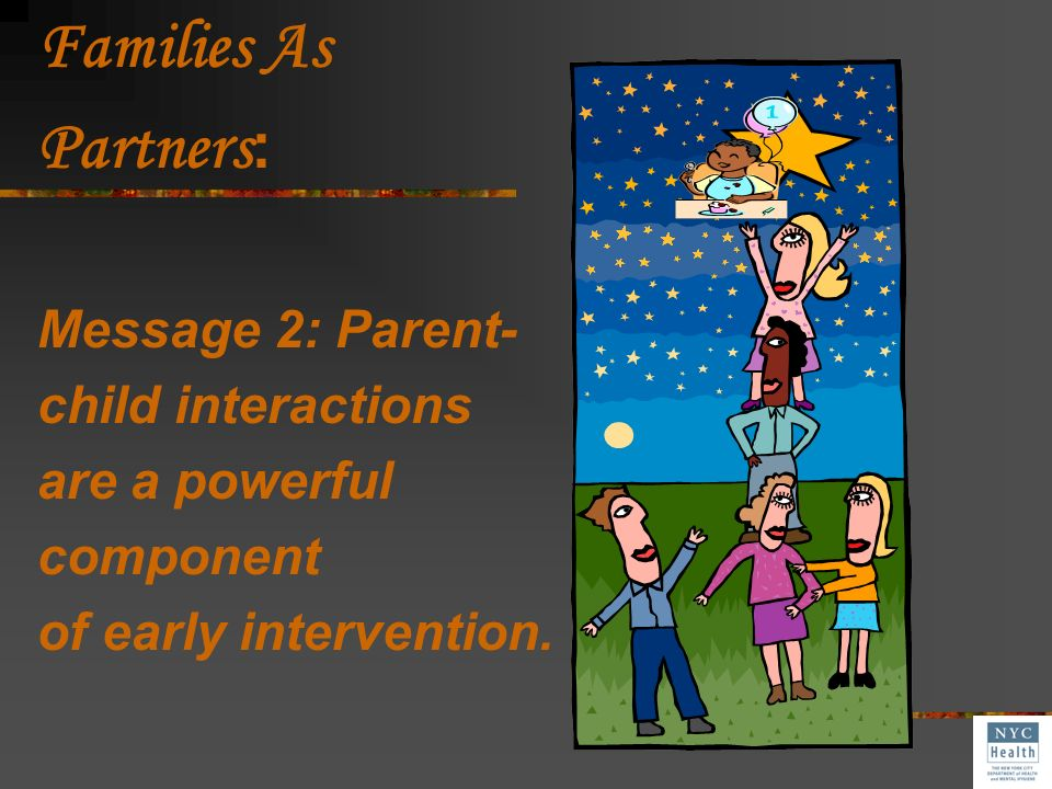 Families As Partners: Message 2: Parent- child interactions