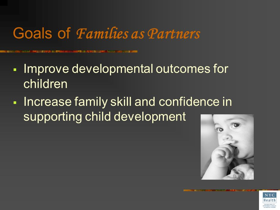 Goals of Families as Partners