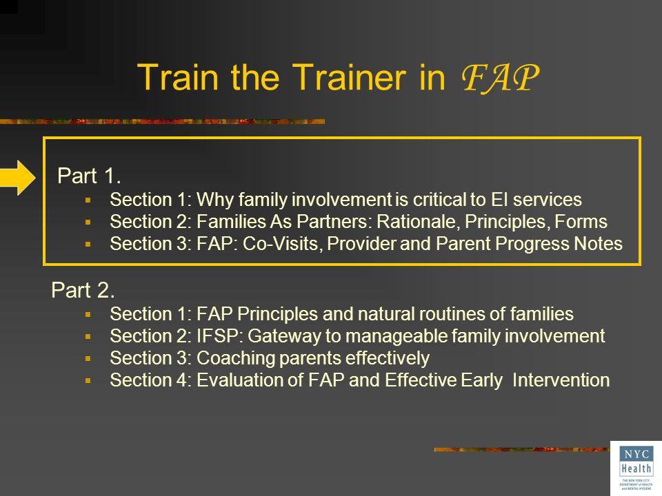 Train the Trainer in FAP