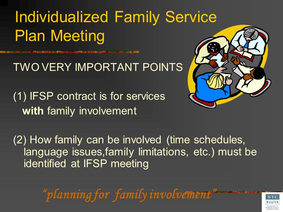 Individualized Family Service Plan Meeting