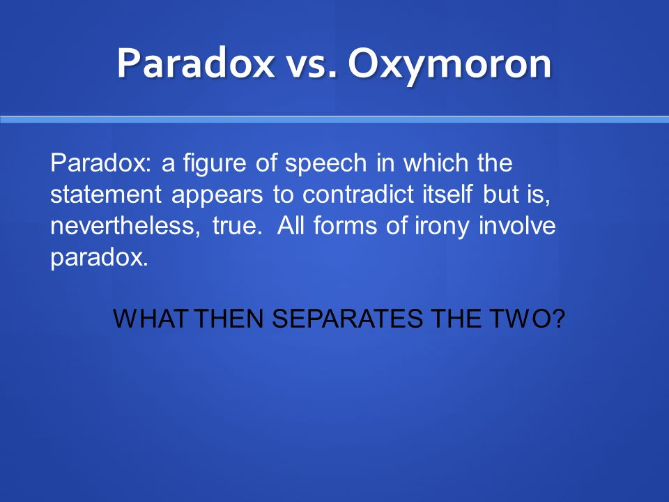 WHAT THEN SEPARATES THE TWO