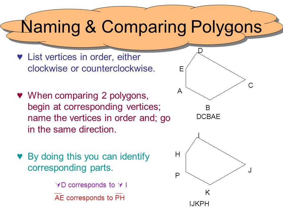 Naming & Comparing Polygons